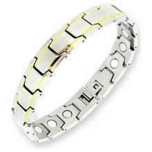 Revere Men's Stainless Steel Two Tone Magnetic Bracelet