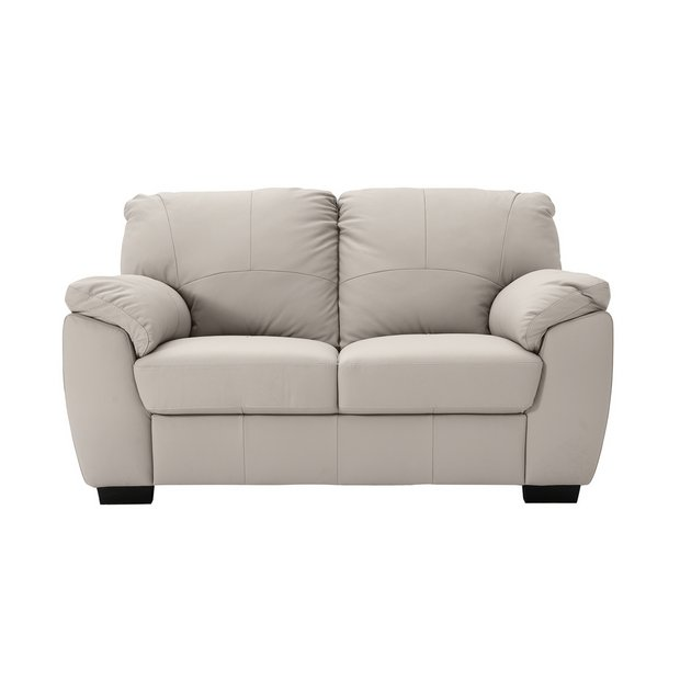 Brilliant Buy Argos Home Milano 2 Seater Leather Sofa Light Grey Home Interior And Landscaping Pimpapssignezvosmurscom