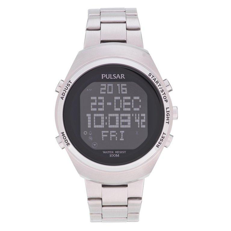buy pulsar s digital stainless steel bracelet at