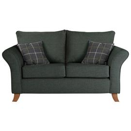Argos Home Kayla 2 Seater Fabric Sofa - Charcoal