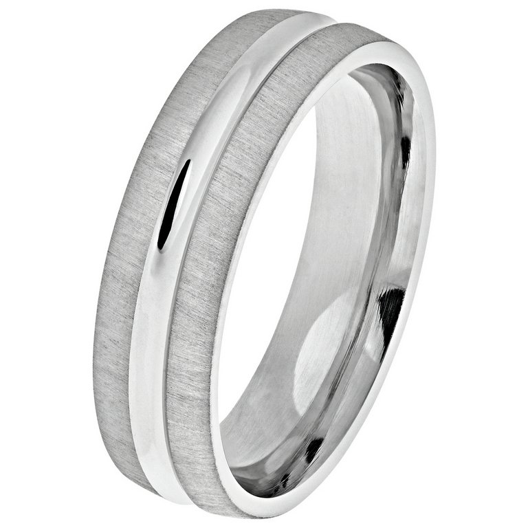 buy sterling silver 6mm matte groove wedding ring at argos