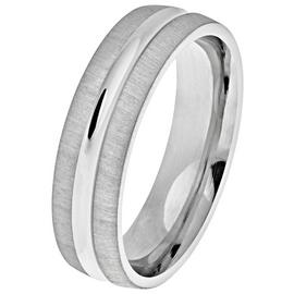 Revere Sterling Silver Matte Groove Wedding Ring - 6mm