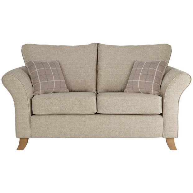 Buy Argos Home Kayla 2 Seater Fabric Sofa - Beige | Sofas | Argos