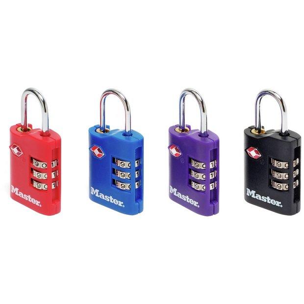Buy Master Lock Tsa 3 Digit Combi Locks Set Of 2 At
