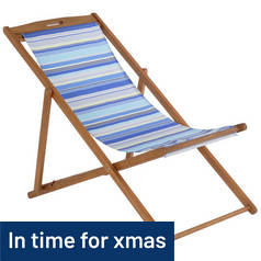 Deck Chair - Blue Striped