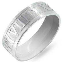 Revere Men's Stainless Steel Roman Numeral Ring
