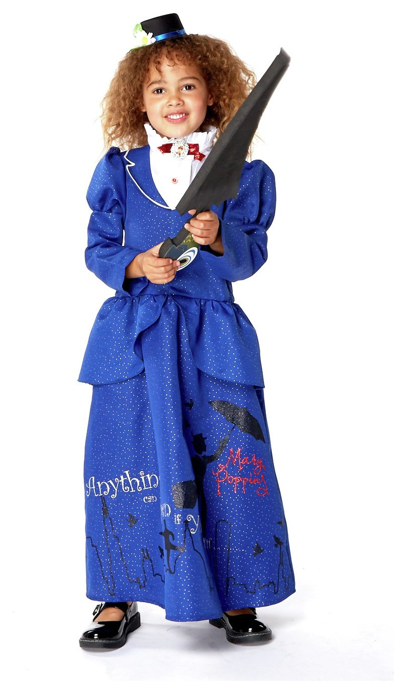 Disney Mary Poppins Fancy Dress Costume - 5-6 Years  sc 1 st  Argos : childrens fancy dress costumes argos  - Germanpascual.Com