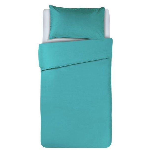 buy colourmatch teal bedding set single at. Black Bedroom Furniture Sets. Home Design Ideas