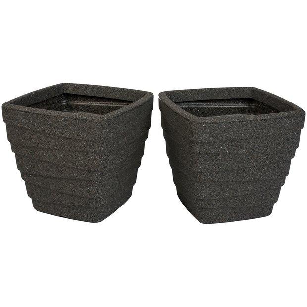 buy strata x2 square trojan planter set at. Black Bedroom Furniture Sets. Home Design Ideas