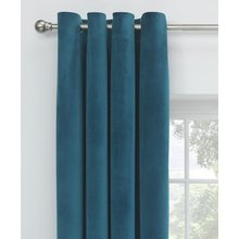 Collection Velour Lined Eyelet Curtains -168x137cm- Peacock