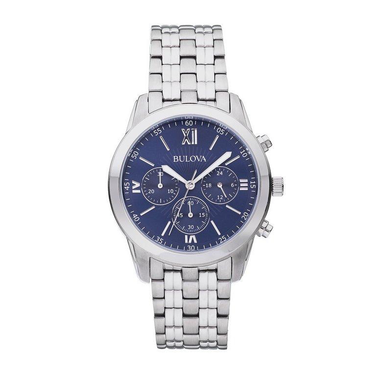 buy bulova blue sports chronograph at argos co
