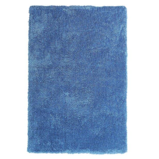 Buy Colourmatch Snuggle Shaggy Rug 110x170cm Ink Blue