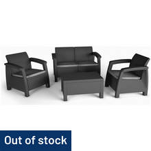 Keter Bahamas 4 Seater Rattan Effect Sofa Set