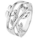 more details on Sterling Silver Cubic Zirconia Leaf Ring.