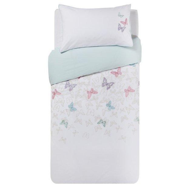 buy home embroidered butterflies bedding set single at. Black Bedroom Furniture Sets. Home Design Ideas