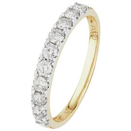 Revere 9ct Yellow Gold 0.50ct Diamond Claw Set Eternity Ring