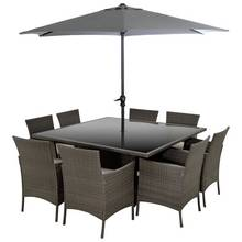 Collection Fiji 8 Seater Rattan Effect Patio Set