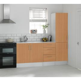 Argos Home Athina 3 Pc Fitted Kitchen Package -Beech Effect