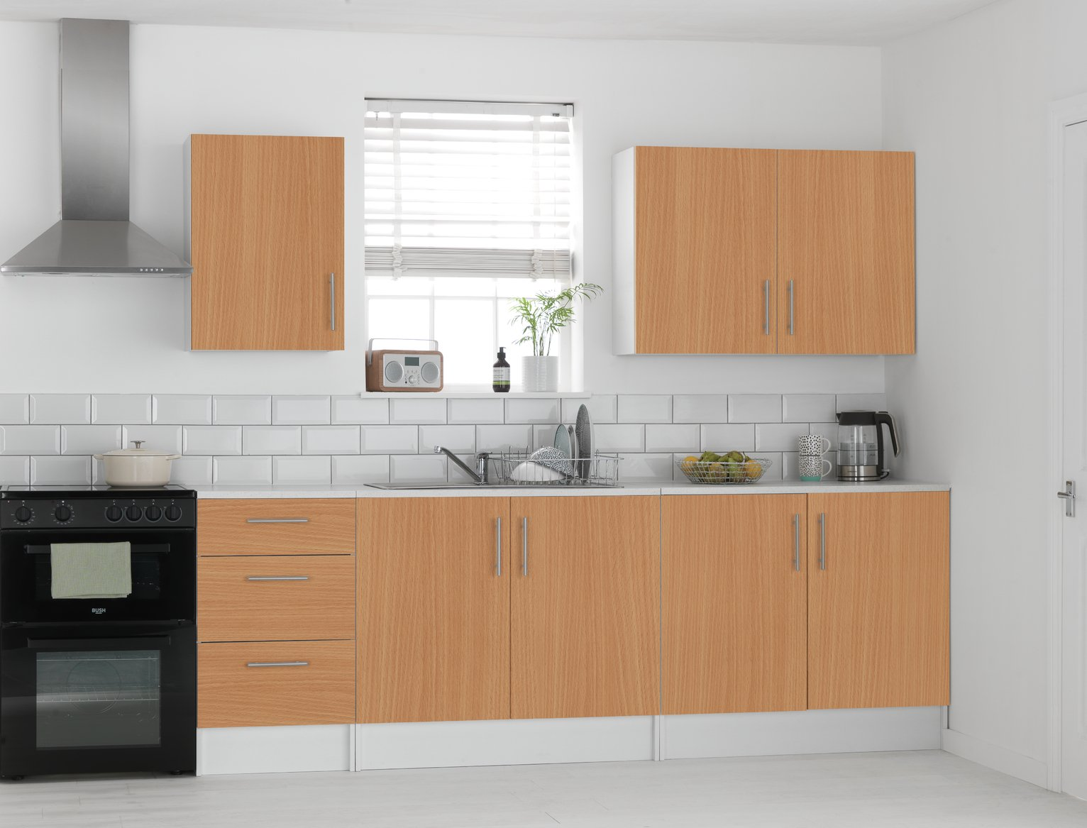 Buy freestanding kitchen wall units at your for Argos kitchen cabinets