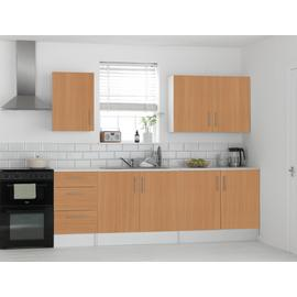Argos Home Athina 5 Pc Fitted Kitchen Package -Beech Effect