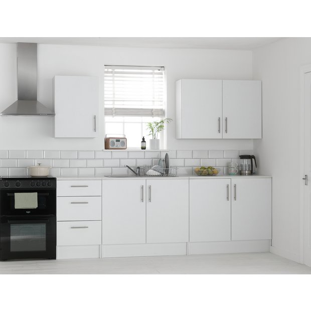 Buy athina 5 piece fitted kitchen unit package white at for Kitchen unit set