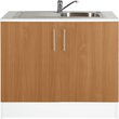 more details on Athina 1000mm Stainless Steel Kitchen Sink Unit - Beech.
