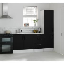 Argos Home Athina 3 Piece Fitted Kitchen Package - Black