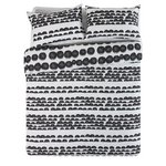 more details on HOME Bobble Black and White Bedding Set - Double.