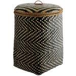 more details on Habitat Idaho Bamboo Weave Laundry Bin - Black.