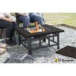 more details on La Hacienda Large Square Fire Pit Table.