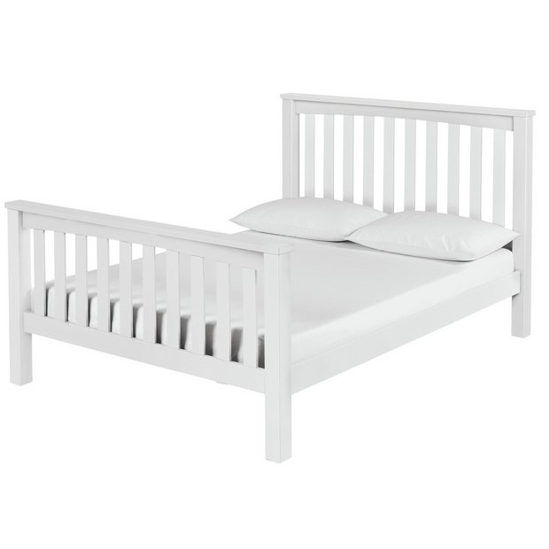 more details on collection maximus white bed frame double