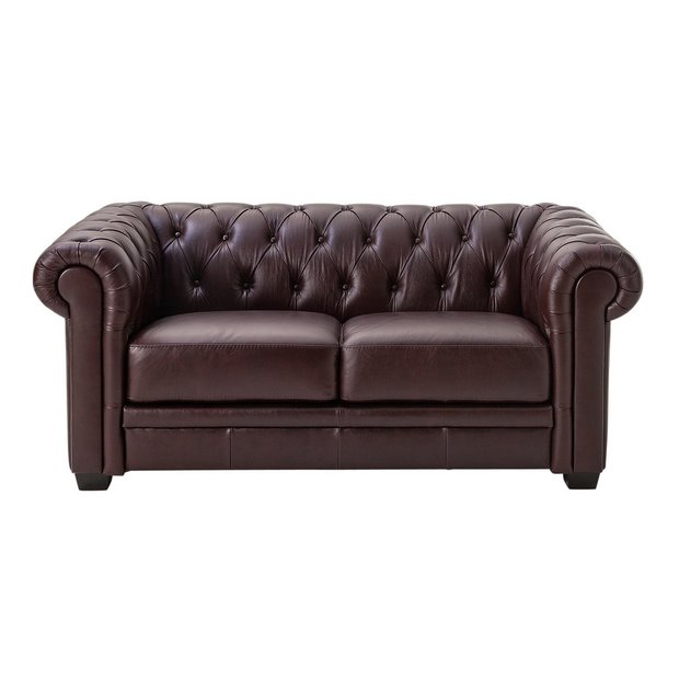 2 Seater Leather Sofa Brown: Buy Heart Of House Chesterfield 2 Seater Leather Sofa