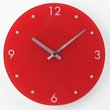 more details on HOME Round Glass Wall Clock - Red.