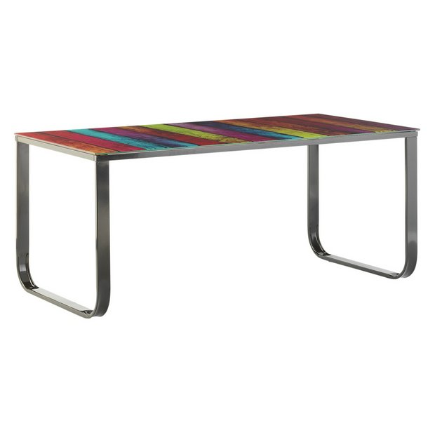 Glass Coffee Table From Argos: Buy HOME Rainbow Coffee Table At Argos.co.uk