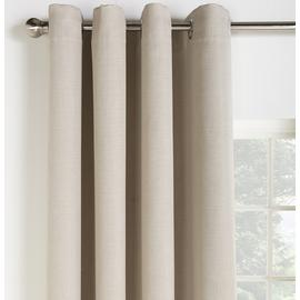 Argos Home Linen Look Blackout Curtains