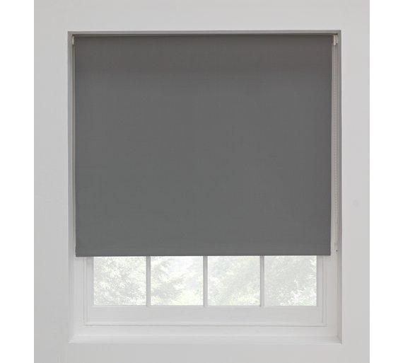 colourmatch blackout thermal roller blind 2ft flint grey