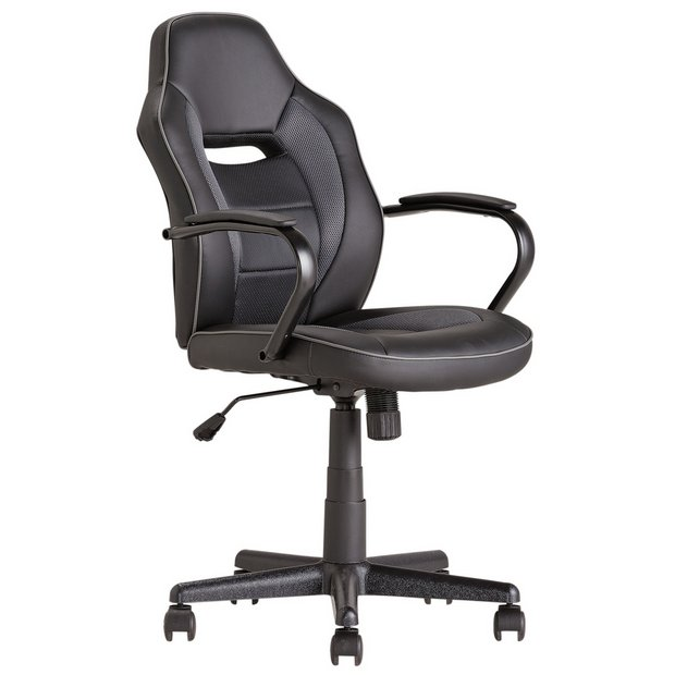 Argos Home Mid Back Office Gaming Chair Black