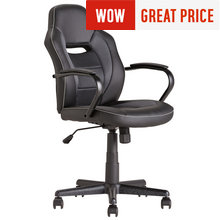 Mid Back Office Gaming Chair - Black