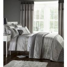 Catherine Lansfield Silver Gatsby Duvet Cover Set - Double