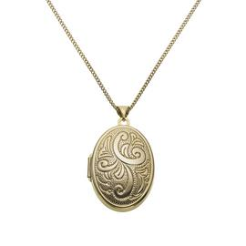 Moon & Back Sterling Silver Oval Locket  Pendant Necklace