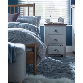 Argos Home Kent 3 Drawer Bedside Table