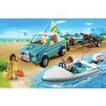 more details on Playmobil Surfer Pickup with Speedboat Playset - 6864.