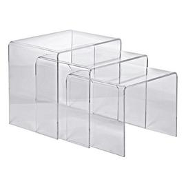 Argos Home Mistral Nest of 3 Tables - Clear Acrylic