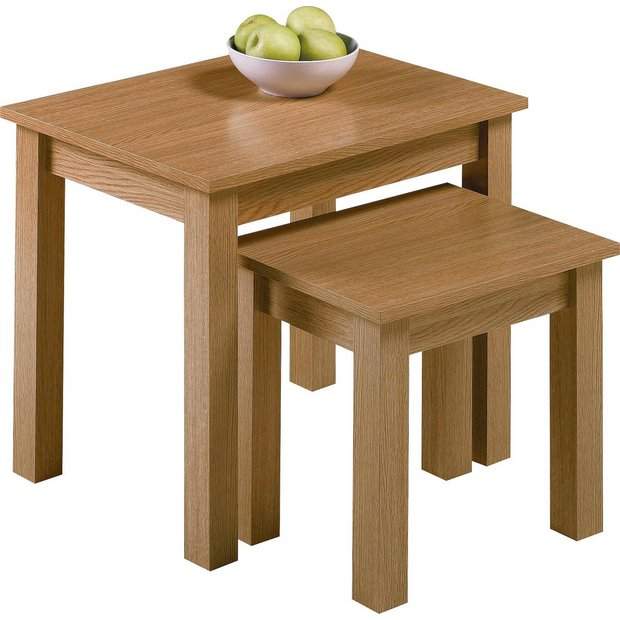 Buy Home Nest Of 2 Tables Oak Effect At Your Online Shop For Coffee Tables Side