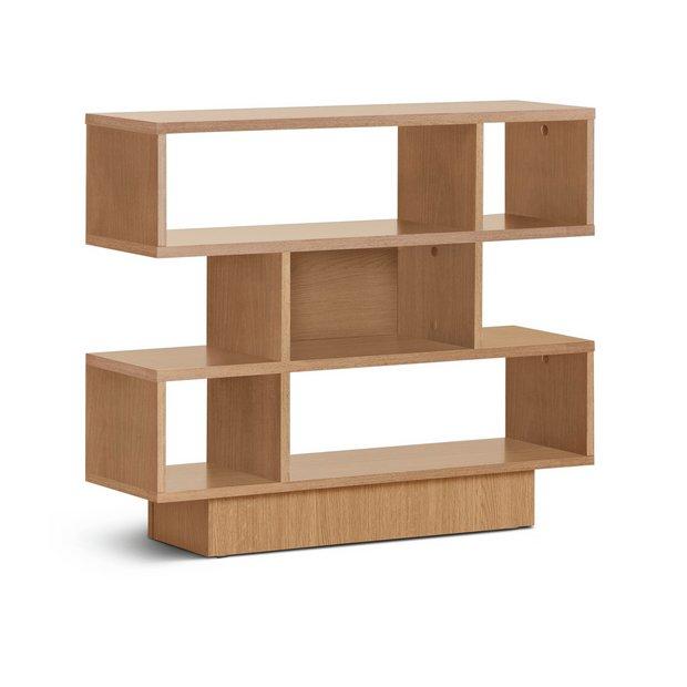 buy home cubes 3 tier shelving unit oak effect at argos. Black Bedroom Furniture Sets. Home Design Ideas