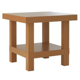 Argos Home Stratford Chunky End Table - Oak Effect