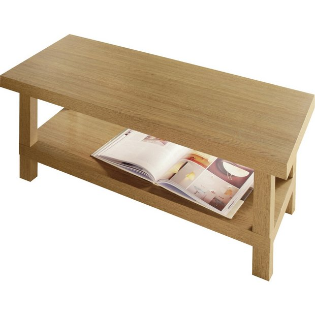 Buy Home Stratford Chunky Coffee Table Oak Effect At Your Online Shop For Coffee