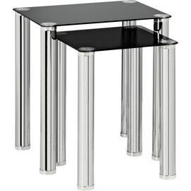 Argos Home Matrix Nest of 2 Glass Tables