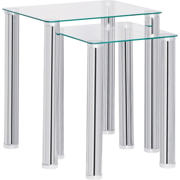 Glass Coffee Tables Argos: Buy HOME Matrix Nest Of 2 Tables