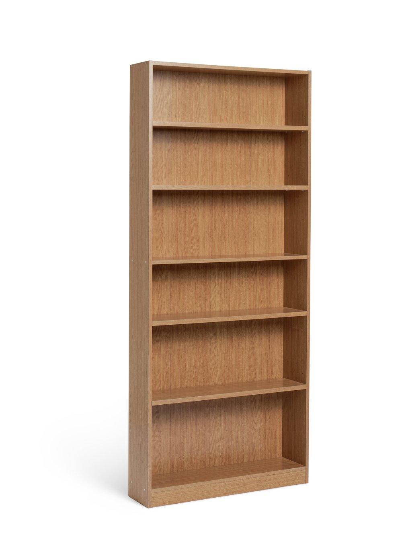 Tall White Bookcase Argos Home Maine 5 Shelf Tall Wide
